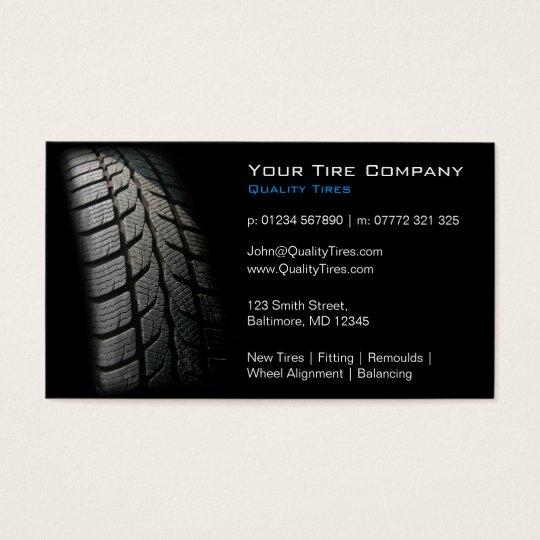 Black tire fitting business card zazzle black tire fitting business card colourmoves