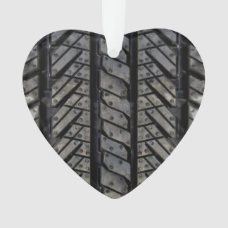 Black Tire Rubber Automotive Decor Ornament
