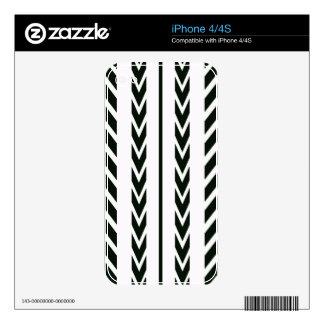 Black Tire Tread Skin For The iPhone 4