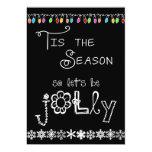 Black Tis the Season Holiday Party Invitation