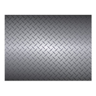 Black to Bright Steel Fade Diamondplate Background Postcard