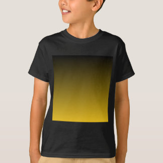 Black to Deep Lemon Horizontal Gradient T-Shirt