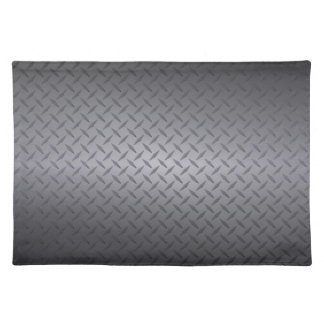 Black to Gray Fade Diamondplate Steel Background Cloth Placemat