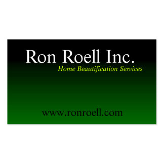 Black to green fade business card