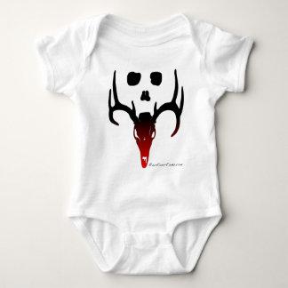Black To Red Deer and Skull Baby Bodysuit