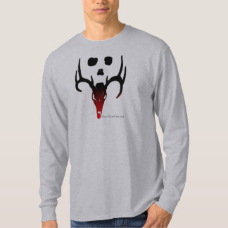 Black To Red Deer and Skull T-Shirt