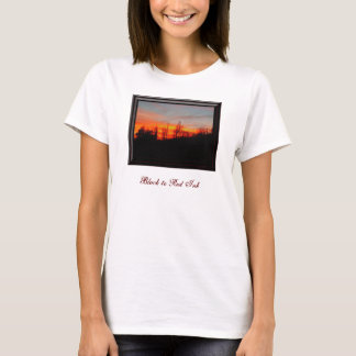 Black to Red Ink Poetry/Photo Women's T-Shirt