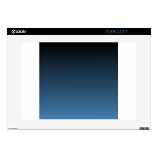"Black to Steel Blue Horizontal Gradient Skins For 15"" Laptops"