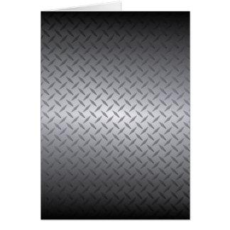 Black to Steel Diamondplate Blank Inside Card