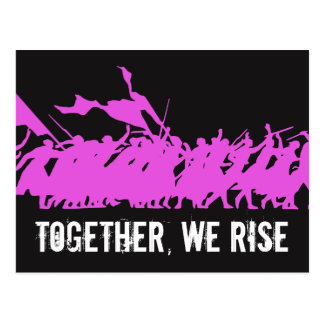 "Black ""Together, We Rise"" Postcard"