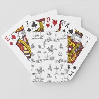 Black Toile Unicorn Card Deck