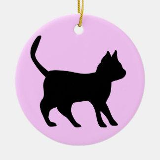 Black tomcat ceramic ornament