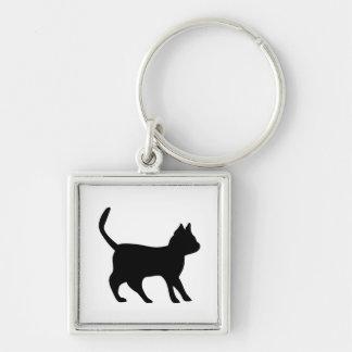Black tomcat keychain