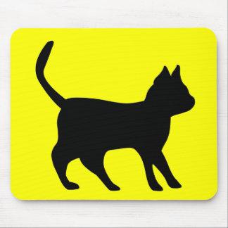 Black tomcat mouse pad