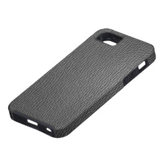 Black Tones Natural Leather Look iPhone 5 Case