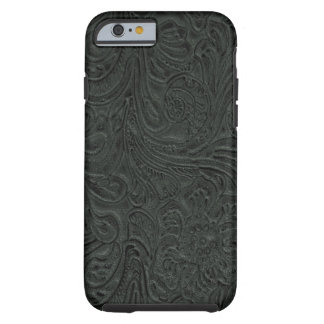 Black Tooled Leather Look Cowboy Country Tough iPhone 6 Case