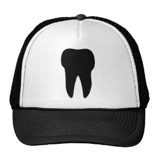 black tooth icon dentist trucker hat