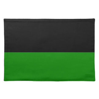 black top green bottom DIY custom background Cloth Placemat