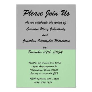 black top green bottom DIY custom background 5x7 Paper Invitation Card