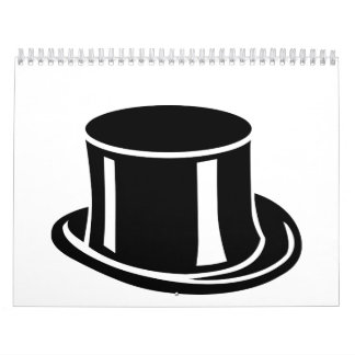 Black top hat wall calendar