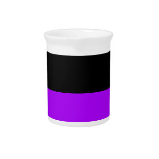 black top purple bottom DIY custom background Drink Pitcher