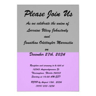 black top purple bottom DIY custom background 5x7 Paper Invitation Card