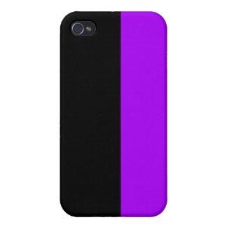 black top purple bottom DIY custom background iPhone 4/4S Case