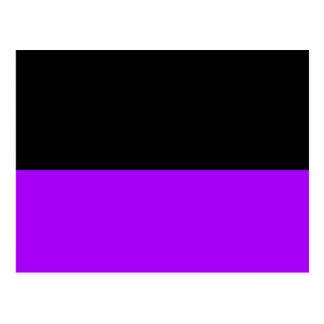 black top purple bottom DIY custom background Postcard