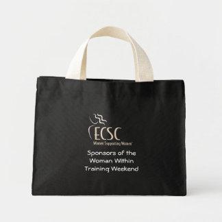 Black tote bag with ECSC logo