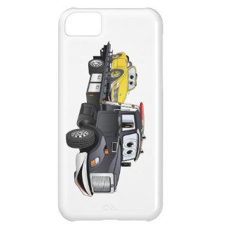 Black Tow Truck Flatbed Cartoon Case For iPhone 5C