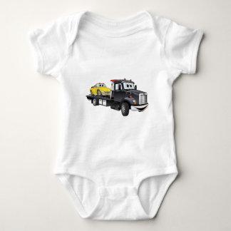 Black Tow Truck Flatbed Cartoon Tshirt