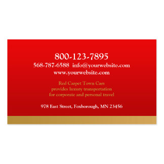 Black Town Car Business Card Business Cards