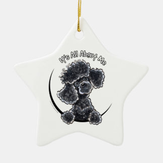 Black Toy Poodle IAAM Ceramic Ornament