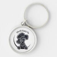 Black Toy Poodle IAAM Keychain
