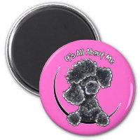 Black Toy Poodle IAAM Magnet