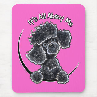 Black Toy Poodle IAAM Mouse Pad