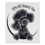 Black Toy Poodle IAAM Poster