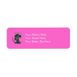 Black Toy Poodle IAAM Return Address Label