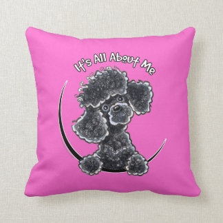 Black Toy Poodle IAAM Throw Pillow
