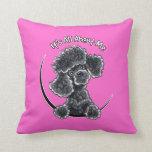 Black Toy Poodle IAAM Throw Pillow
