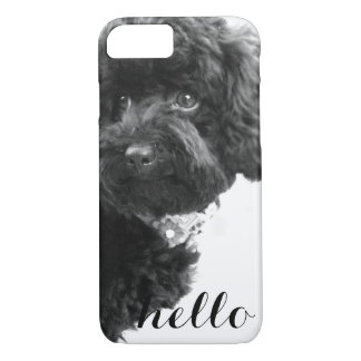 Black Toy Poodle in B&W Photography Personalized iPhone 8/7 Case