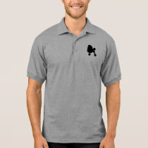 Black Toy Poodle Silhouette Polo Shirt