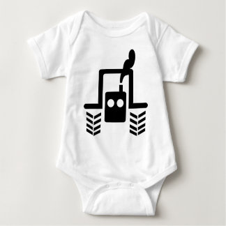 black tractor logo symbol front baby bodysuit