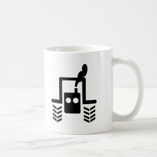 black tractor logo symbol front mug