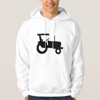 Black Tractor Mens Hoodie