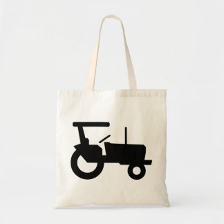 Black Tractor Tote Bag