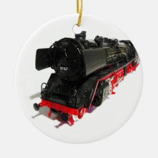 Black Train Christmas ornament