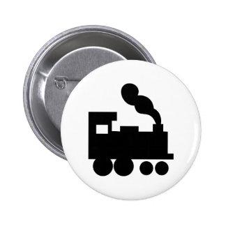 black train railway icon button