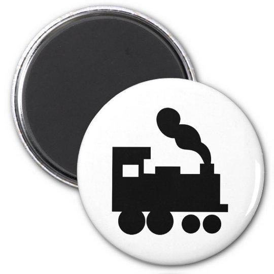 black train railway icon magnet