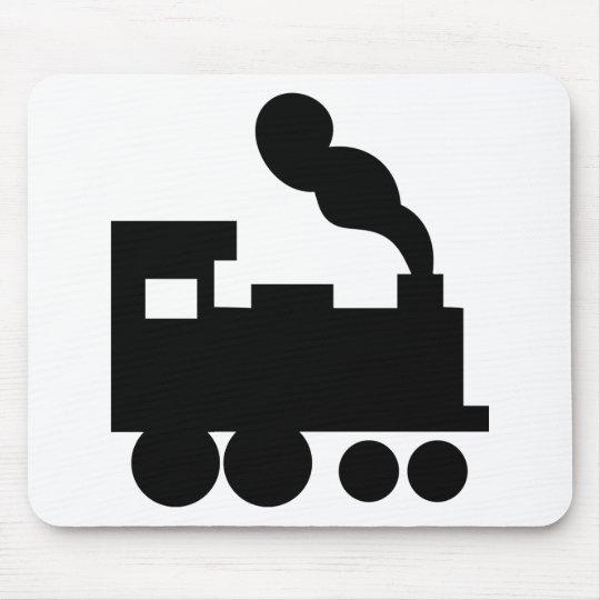 black train railway icon mouse pad
